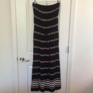 J Crew Blue and Red Striped Maxi- Small